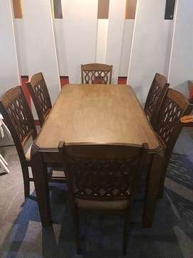 Imported Dinning Table with 6 Chairs solid Wood