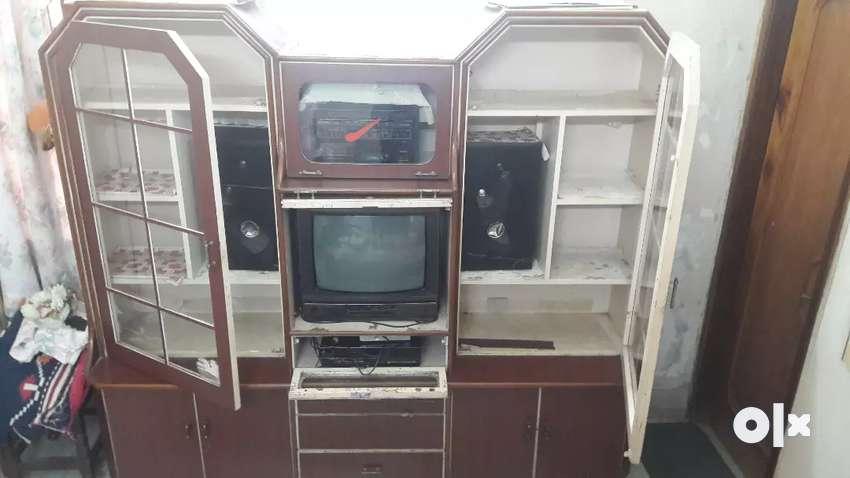 TV cabin including (tv,vcr,audio set) 0