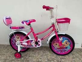 Sepeda anak perempuan Roda 4 Uk 16 Merk Phoenix