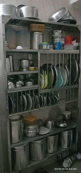 Kitchen steel rack