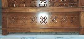 New teak wood cot,fully teak wood no plywood 6*5