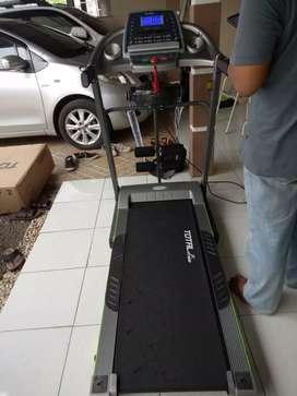 TL 288 big Power Treadmill warna abu2
