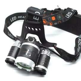 TaffLED Power Headlamp 3 LED 5000 Lumens Cree XM-L - T6 HD-LD - Black