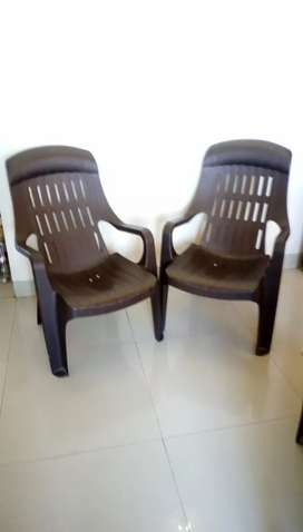 Nilkamal plastic chair- 2 number