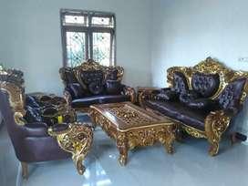 Sofa tamu ukiran jati jepara furniture jati berkualitas