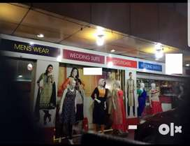 Fully Furnished Textiles Showroom with Stock For Sale