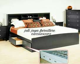 Dipan ranjang laci/tempat tidur minimalis (kos asrama hotel)