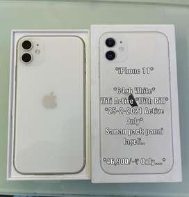 iphone 11 64GB 25-02-2021 Only active