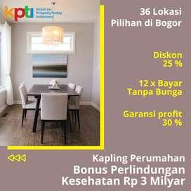 Diskon 25%, Kavling Area Botani Bogor Kota, 5 Menit Tol Jagorawi