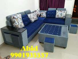 Latest design top quality fabric corner sofa set 3 years warranty c 11
