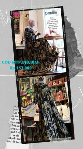 COD Bjm bjb Mtp dress santai cantik dendless dress
