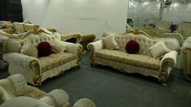 New Classic luxury drawing room sofa set Seven Seater in shaineel fbrc