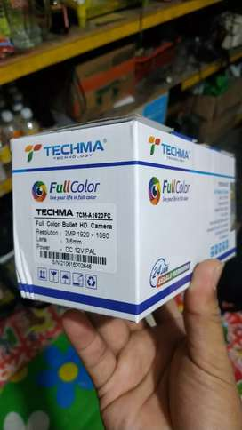 Kamera CCTV outdoor fullcolor 2 MP techma