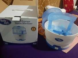 Steam Sterilizer merk Baby Safe, simple, ringkas, muat banyak botol