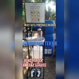 Jual tempat cuci tngan tnpa sentuh (wastafel portable portabel injak)