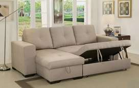 Hydraulic Design L shape sofa 5 seater with 5 years of warranty