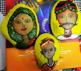 Hand painted beautiful stones. 50₹ per stone