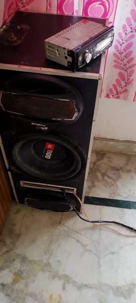 Tractor music system JBL bass amp  with tape bt aux USB