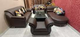 9 Seater Sofa Set with Lounge and Centre Table