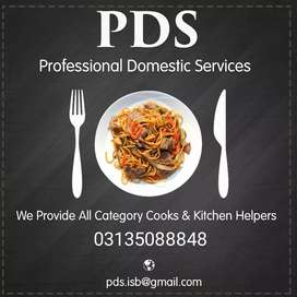 "PDS"" Provide Verifoed Aal Category Expert Male & Female Cooks Helpers"