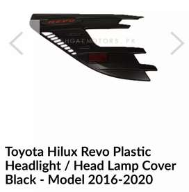 2 piece left/right Headlights cover for hilux Revo
