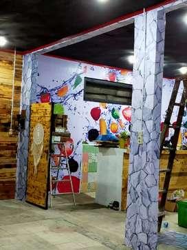 Wallpaper dinding vertical blind gorydn vinyl lsc medan