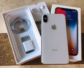 iPhone X With Complete Box! (Almost New) 64GB Silver.