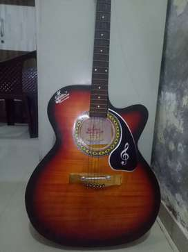 Signature company guitar with cover