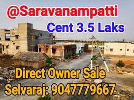 Saravanampatti Dtcp plot Sale near Kgisl IT park