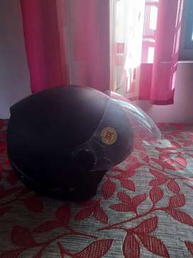 Track by Studds Open Face Black Helmet with visor (ISI)