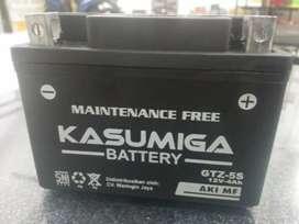 Accu Kasumiga  GTZ5 MF 4 Amphere Aki Motor Kering Honda Supra 125
