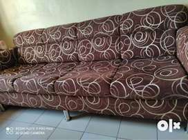 02 nos. 5-seater Brown colour sofas in very good condition