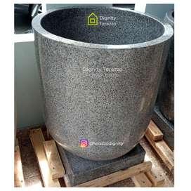 Bak mandi teraso marmer original warna gray natural free ongkir