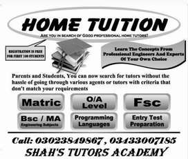 Lady Home Tutor Required in all areas of Karachi