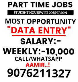 2-3 hours part time job weekly salery 10000 to 40000
