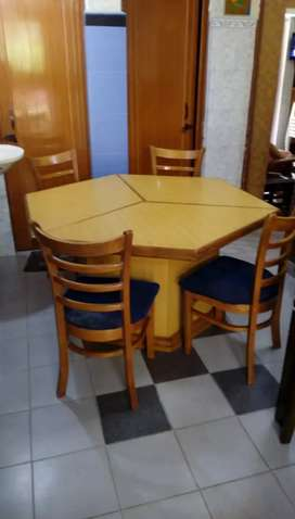 Dining cum Conference table, and two bedroom chairs