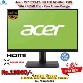 """Acer 37"""" led monitor border less ips full hd 3year warranty fix price"""