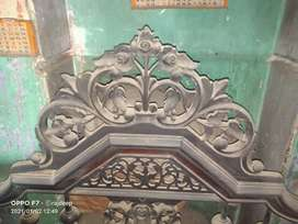 100 years old antique barma segun bed.