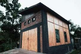 Ruko bentuk studio, masih baru,  belum pernah ditempati