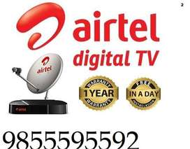 Airtel And Tata Sky New Digital Connection all india Installation