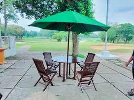 Payung Taman bahan kayu jati. Ready stock palembang.BISA cod Palembang