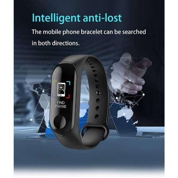 Jam tangan led digital keren tren M3 plus Smart Band Watch Bluetooth v 0