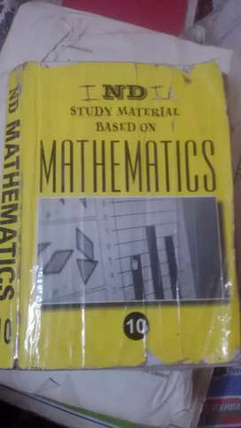 N D maths  solutions book for class 10 students