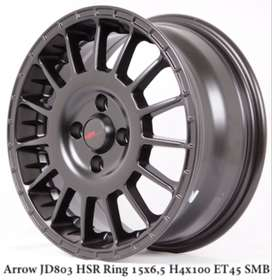 velg model ARROW JD803 HSR R15X65 H4x100 ET45 SMB