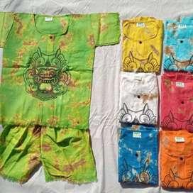 Baju setelan anak Bali/ baju barong anak usia1- 4 tahun