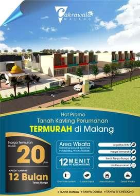 Tanah Kavling Ruko Row Jalan 13m 19jt 52m2 Cakrawala Malang