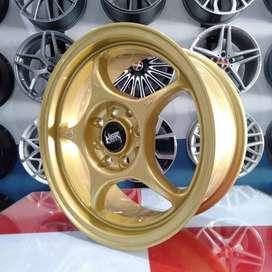 VELG RACINGHSR SENSEI R15X65 H8X100-114 GOLD