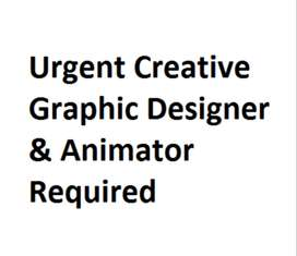 Urgent Creative Graphic Designer And Animator Required