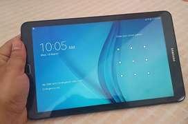 10 inches Samsung Galaxy Tab E with Sim facility.