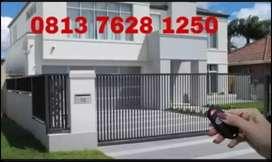 Mesin pintu pagar otomatis sliding / autogate gate menggunakan remot